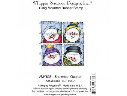 Whipper Snapper Designs - SNOWMAN QUARTET - cling gumové razítko