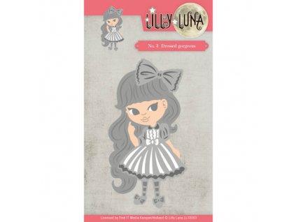 Lilly Luna - DRESSED GORGEOUS -  kovové vyřezávací šablony