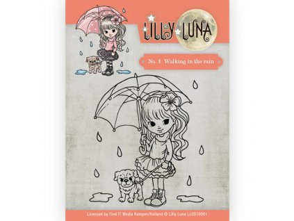 Lilly Luna - 1 / WALKING IN THE RAIN - silikonové razítko