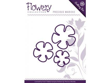 Precious Marieke - FLOWERY / BUTTERCUP TRIO - vyřezávací a embos. šablona pro Big Shot