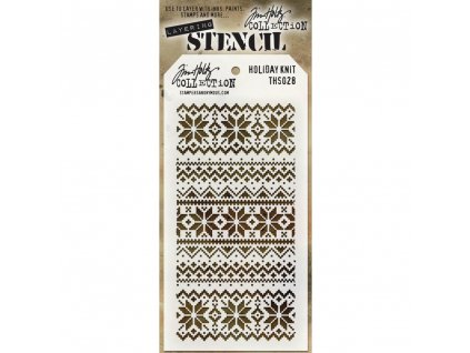 Tim Holtz - HOLIDAY KNIT- maska / šablona