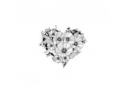 IndigoBlue - POPPY HEART - cling razítka