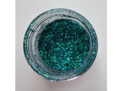 Colourcraft - GLITTER CRYSTALS / GREEN BLUE - modro zelené glitry