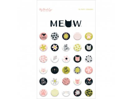 MME - PUFFY STICKERS / MEOW - samolepky
