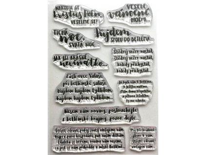 Hurá Papír - silikonová razítka - VÁNOČNÍ KOLEDY