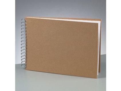 Efco - kartonové album A4 pro scrapbook; 25 bílých listů