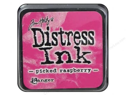 Distress Ink - PICKED RASPBERRY  / mini - razítkovací barva