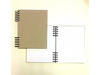 TyPa - kartonový blok A4 / V - na dotvoření, vnitřmí BÍLÉ listy
