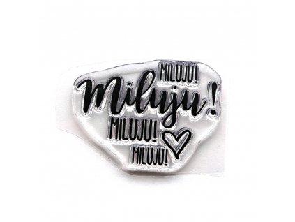 HuráPapír - MILUJU MILUJU MILUJU!  - silikonové razítko