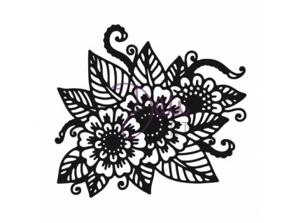 DaliArt Clear Stamp Set Henna Floral