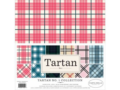 carta bella tartan no1 12x12 inch collection kit c
