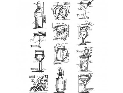 tim holtz mini blueprints 10 cling stamps stampers anonymous cms 336 1.gif