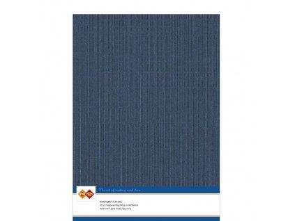 Card Deco - LINEN / DARK BLUE 430 - A4, strukturované čtvrtky, 10 ks