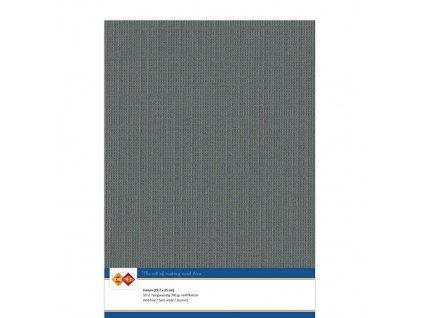 Card Deco - LINEN / DARK GREY 436 - A4, strukturované čtvrtky, 10 ks