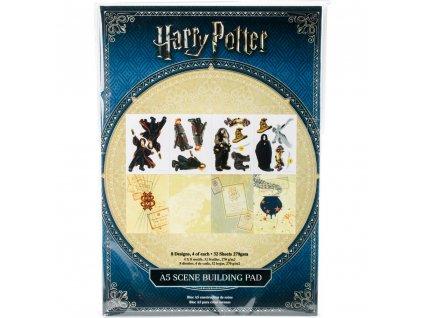 Harry Potter - A SCENE BUILDING PAD - tištěné čtvrtky, dělená sada