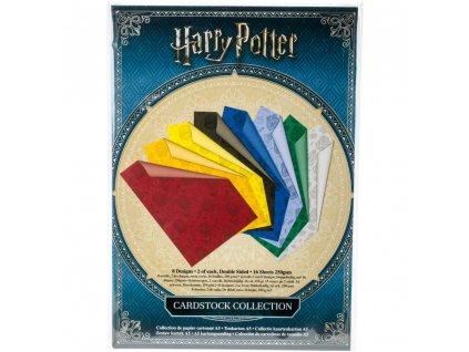 Harry Potter - CARDSTOCK COLLECTION - jemně potištěné barevné čtvrtky