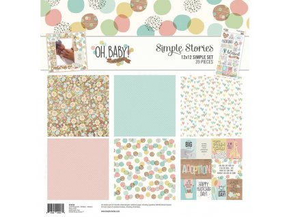 "Simple Stories - OH, BABY! - 12"" kompletní scrapbooková sada"