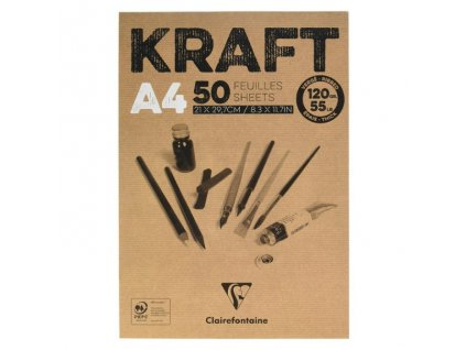 KRAFT A4 - kraft papíry, 100 ks