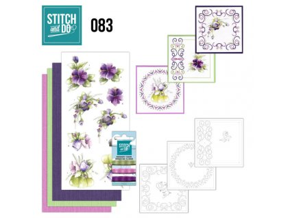 Stitch and Do 83 Purple Flowers