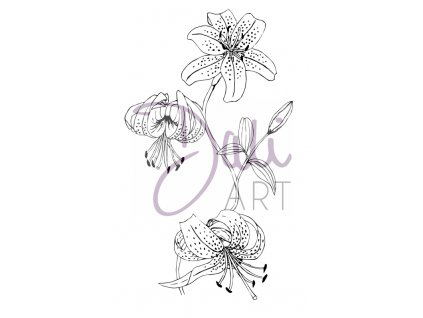 DLCSA6030 daliart lily flowers clear stamp