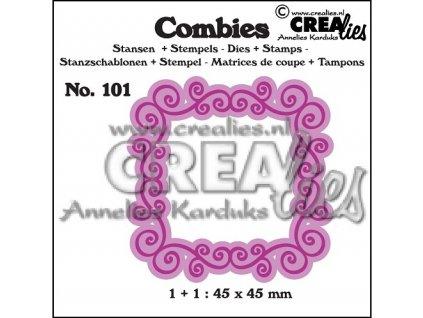 Crealies - COMBIES 101 - vyřezávací kovová šablona + silikonová razítka