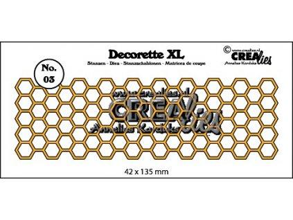 Crealies - DECORETTE XL / 03 /  mřížka - vyřezávací šablona pro Big Shot