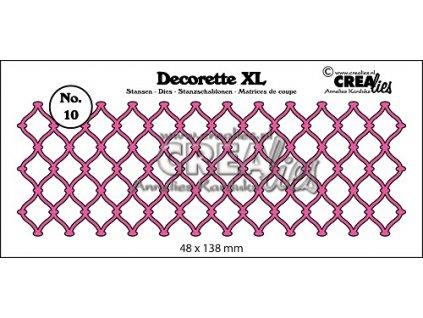 Crealies - DECORETTE XL / 10 /  mřížka - vyřezávací šablona pro Big Shot