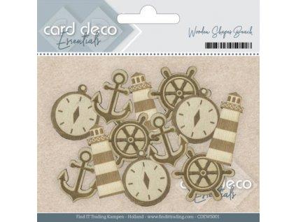 Card Deco - WOODEN BEACH - dřevěné ozdoby