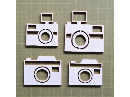 Hurá Papír - kartonové výseky / foto, 4 ks