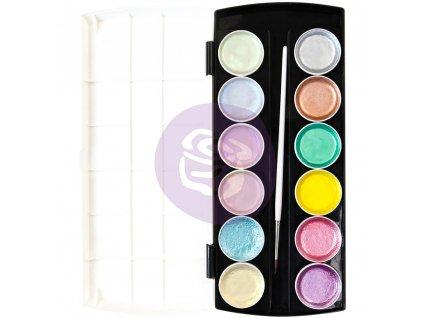Prima Marketing -  METALLIC ACCENTS / Pastels - 12 pánviček s perleťovou  barvou