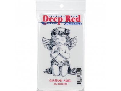 Deep Red - GUARDIAN ANGEL - cling gumové razítko