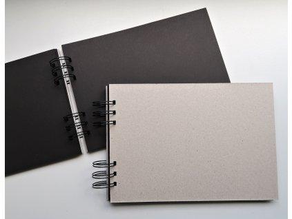 Hurá Papír - A5 / 21 x 14,8  cm -  album, deník, blok; ČERNÉ listy