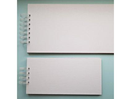 Hurá Papír - 15 x 8 cm -  kartonové album, bílá lepenka