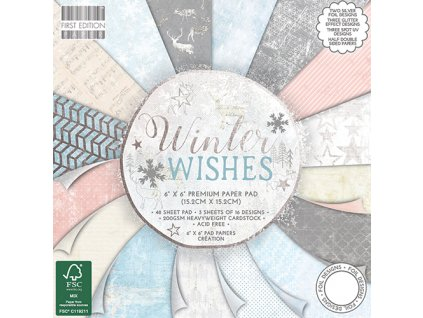 "First Edition - WINTER WISHES - 6"" sada čtvrtek"