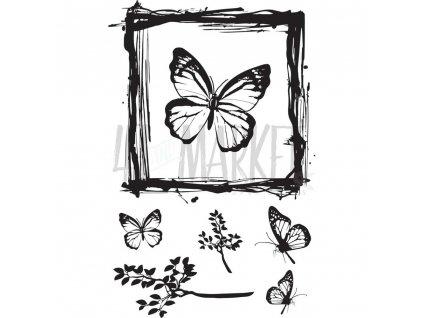 49 and Market - BUTTERFLIES STAMP - silikonová razítka (motýli)