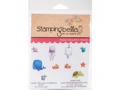 Stamping Bella - UNDER THE SEA CREATURES - cling gumové razítko