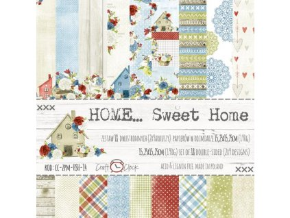"Craft o´clock - HOME... SWEET HOME - 6"" scrapbooková sada"