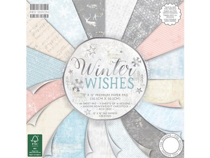"First Edition - WINTER WISHES - dělená 12"" scrapbooková sada"