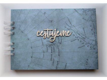 Hurá Papír - cestovní deník A5 / CESTUJEME / bílé čtvrtky