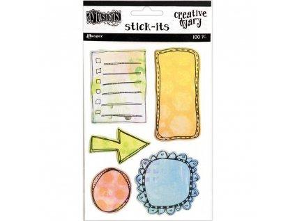 Dylusions - CREATIVE DYARY/ STICK IT - lepící papírky