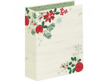 Simple Stories - SN@P! MERRY & BRIGHT / HOLIDAY BINDER - 6x8 - YELLOW -  album