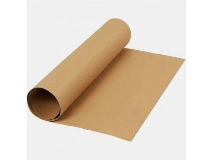 FAUX LEATHER PAPER / LIGHT BROWN - papír se vzhledem kůže, 50x100 cm