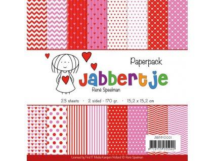"René Speelman - JABBERTJE - kompletní 6"" scrapbooková sada"