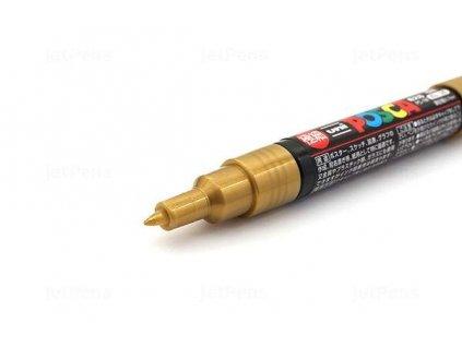 POSCA - GOLD / PC-1M - zlatý akrylový popisovač