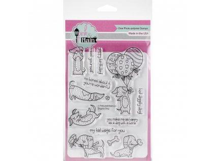 Pink Main - DIGGITY DOG - silikonová razítka