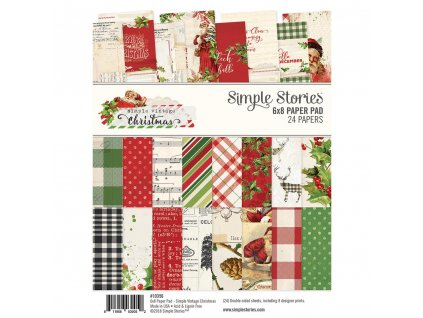 Simple Stories  - SIMPLE VINTAGE CHRISTMAS - sada čtvrtek 6x8