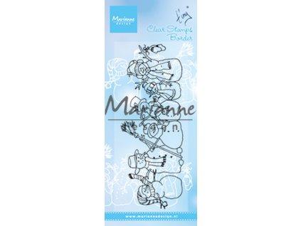 Marianne Design - sněhuláci - silikonové razítko