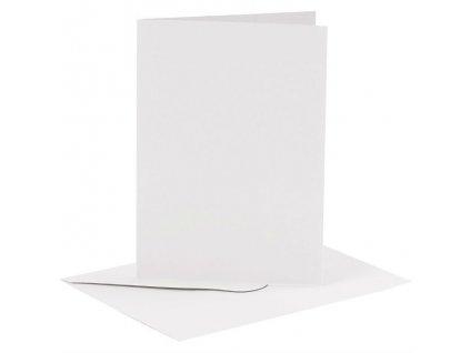 Card Making - A6 - sada obálek a přání / bílé / 6 ks