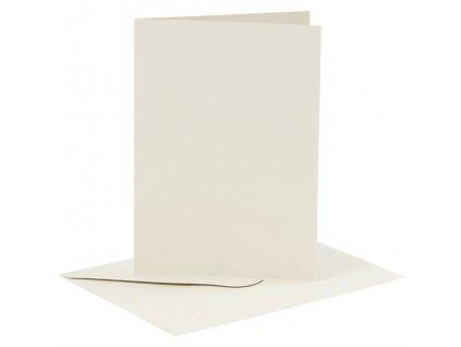 Card Making - A6 - sada obálek a přání / krémové / 6 ks
