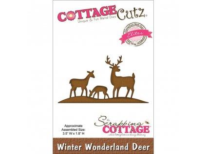 Cottage Cutz - WINTER WONDERLAND DEER - kovové vyřezávací šablony